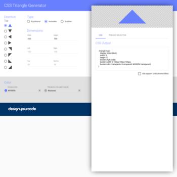 triangle designyourcode io at WI  CSS Triangle Generator