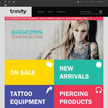 trinitybj.com at WI. Trinity - Body Jewelry & Tattoo supplies ...