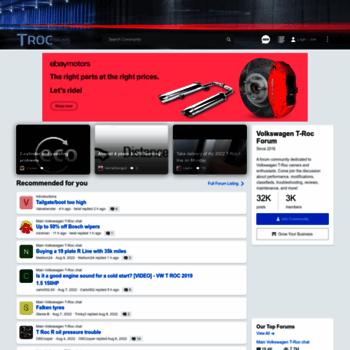 trocforums co uk at WI  Volkswagen T-Roc Forums - Forum for