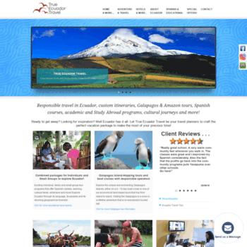 true-ecuador-travel org at WI  Responsible Travel Agency in Ecuador