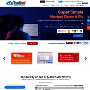 truedata in at WI  TrueData™   Real Time Data   Real Time