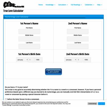 truelovecalculator com at WI  True Love Calculator | iDivine com