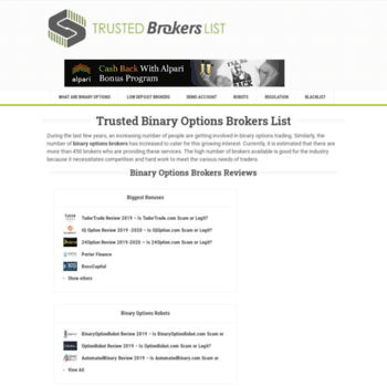 trustedbrokerslist com at WI  Trusted Binary Options Brokers