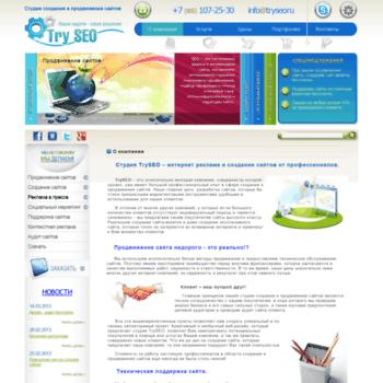 Веб сайт tryseo.ru