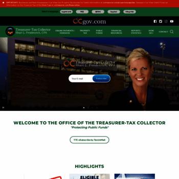 ttc ocgov com at wi orange county california treasurer tax collector