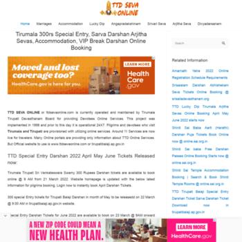 ttdsevaonline net at WI  Ttd Seva Online - Tirumala Lucky Dip