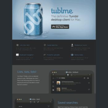 Tublme a tumblr app for mac free
