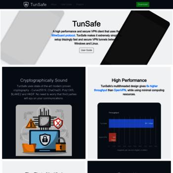 tunsafe com at WI  TunSafe: High Performance WireGuard VPN