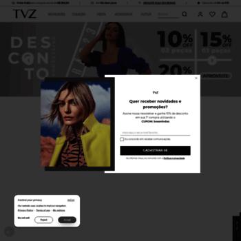 0691d21e8 tvz.com.br at WI. TVZ - Loja Online Oficial - Roupas feminina ...