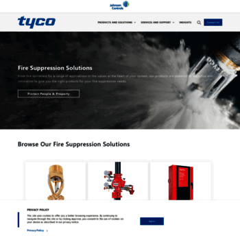 tyco-fire com at WI  Tyco Fire Products