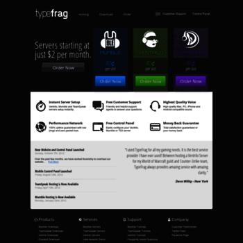 typefrag com at WI  TypeFrag com | Ventrilo, Mumble and