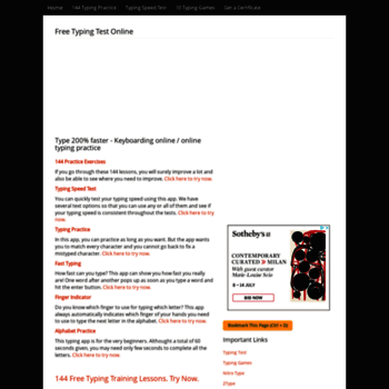 typingtestnow com at WI  Typing test - Online typing test - Typing
