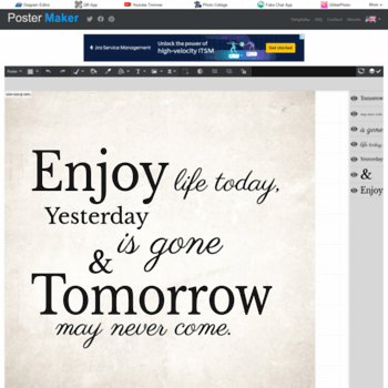 typographyeditor com at wi free online poster maker postermaker com
