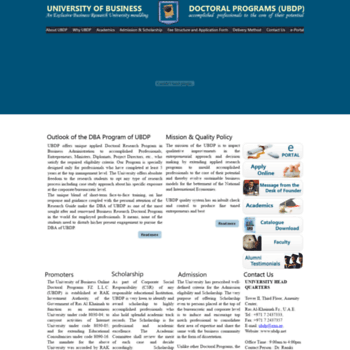 ubdp net at WI  UNIVERSITY OF BUSINESS ONLINE DOCTORAL