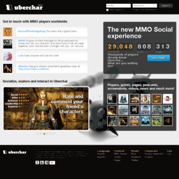uberchar com at WI  MMO Social Network - Uberchar - Players, Guilds