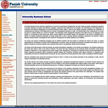 Ubs.puchd.ac.in thumbnail