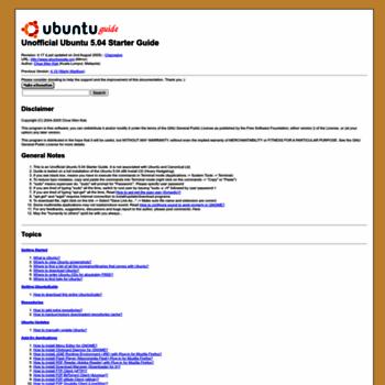 Ubuntuguide.org thumbnail