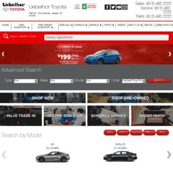 Uebelhor Toyota Jasper >> Uebelhortoyota Com At Wi Toyota Dealer Jasper In New Used Cars
