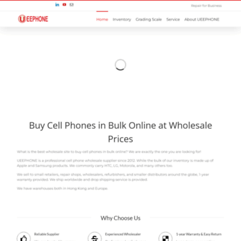 2beccbd4293 Ueephone.com thumbnail. Alexa Rank  5530194. Buy Cheap Grade AA Refurbished  Apple iPhone iPad and Samsung Wholesale