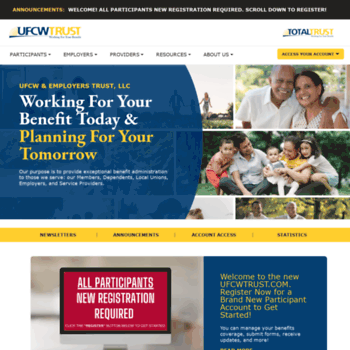 ufcwtrust com at WI  UFCW and Employers Trust - Health and