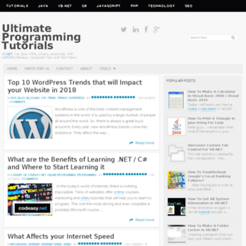 Ultimateprogrammingtutorials.blogspot.com thumbnail