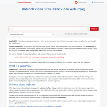 unblockvideo com at WI  Unblock YouTube Videos - SSL Encrypted Video
