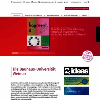 Uni Weimar De At Wi Bauhaus Universitat Weimar Universitat