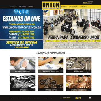 Unionmotorcycles.com.br thumbnail