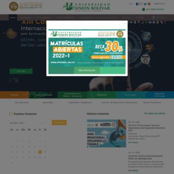 Unisimonbolivar.edu.co thumbnail