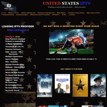 Unitedstatesiptv.com thumbnail