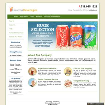 Universalbeverages.net thumbnail