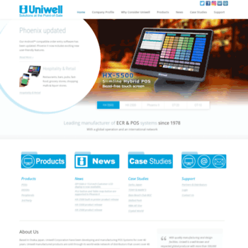 uniwell com at WI  Home | Uniwell Corporation | ECR & POS System