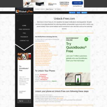 unlock-free com at WI  Unlock-Free com : Unlock your mobile phone