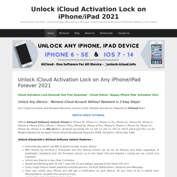 unlock-icloud info at WI  Bypass/Remove iCloud Activation