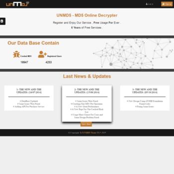 unmd5 me at WI  UNMD5 - MD5 Online Decrypter
