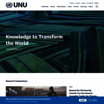 Unu.edu thumbnail