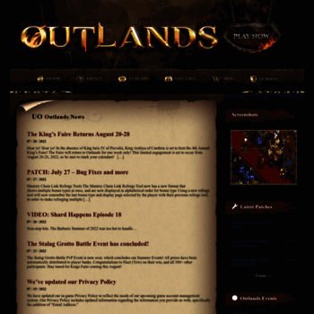 uooutlands com at WI  UO Outlands - An Ultima Online Shard