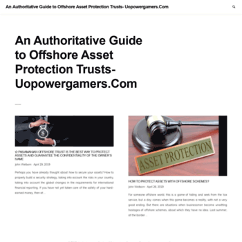 uopowergamers com at WI  An Authoritative Guide to Offshore