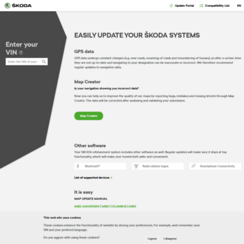 updateportal skoda-auto com at WI  Update portal