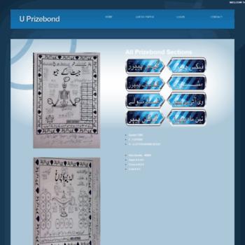 uprizebond com at WI  U Prizebond the world of Photostat