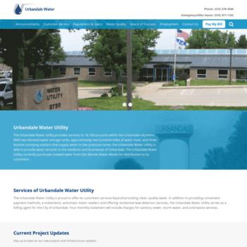 urbandalewater org at WI  Urbandale Water Utility - City Water