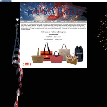 3a981e7a69a usabagsinc.com at WI. USA BAGS, INC.