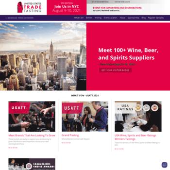 usatradetasting com at WI  USA Trade Tasting & Conference   Wine