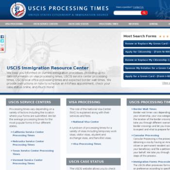 uscisprocessingtimes org at WI  USCIS Processing Times   United