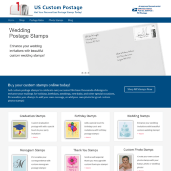 Uscustompostage Com At Wi Us Custom Postage Stamps Buy