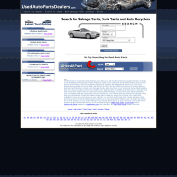 usedautopartsdealers com at WI  Used Auto Parts Dealers and