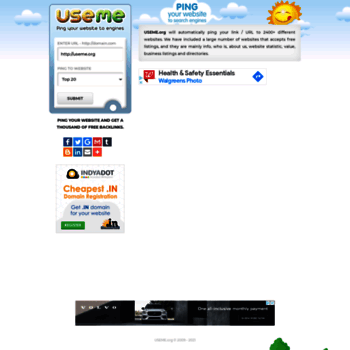 useme org at WI  Ping your website, Thousands of Backlinks