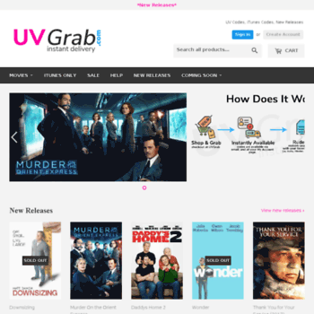 uvgrab com at WI  Buy UV Codes Instantly, New Releases