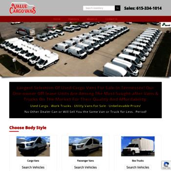 28d41c9053 valuecargovans.com at WI. Value Cargo Vans - Lowest Prices - Largest ...