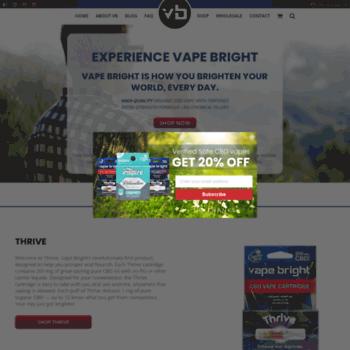 vapebright com at WI  Vape Bright | The Better Way To Vape CBD Oil